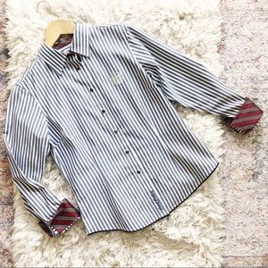 Brooks Brothers | Blue Striped Fitted Button Up 8